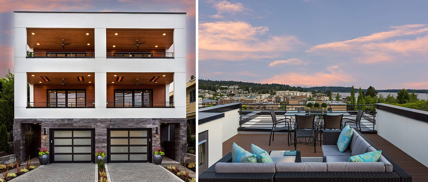 Discover These 2 New Lake View Townhomes Located In The Coveted East Of Market Neighborhood Just Steps From Vibrant Downtown Kirkland