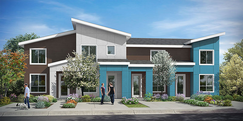 South seattle brio townhomes bdr companies for Master down townhomes